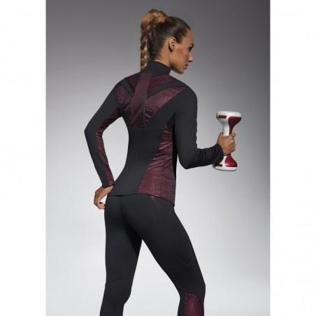 Inspire sweat sport noir et rose