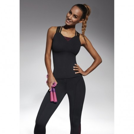 Inspire Top50 top sport noir et rose