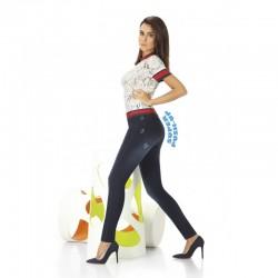 Maddie legging jean bleu foncé