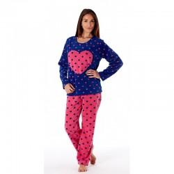Pyjama coeurs avec haut bleu