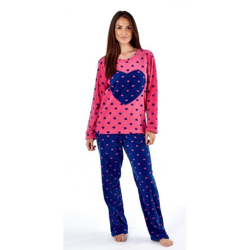 Pyjama coeurs avec haut rose