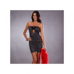 Robe bustier grise