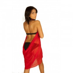 Robe pareo rouge