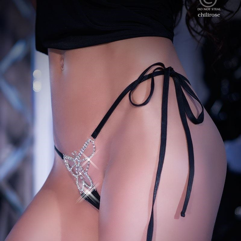String papillon strass