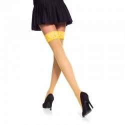 Veronica bas résille jaune