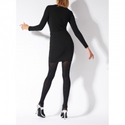 Collants couture or et argent