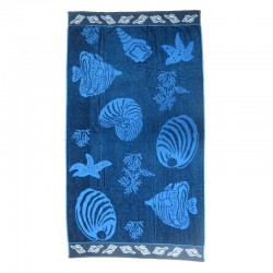 Serviette de plage poissons bleus