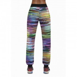Tropical pantalon sport rayé multicolore