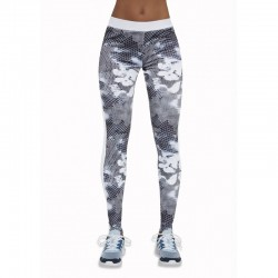 Code legging sport gris et blanc