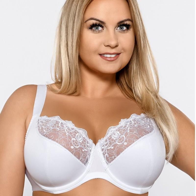 Deborah soutien-gorge blanc grande taille