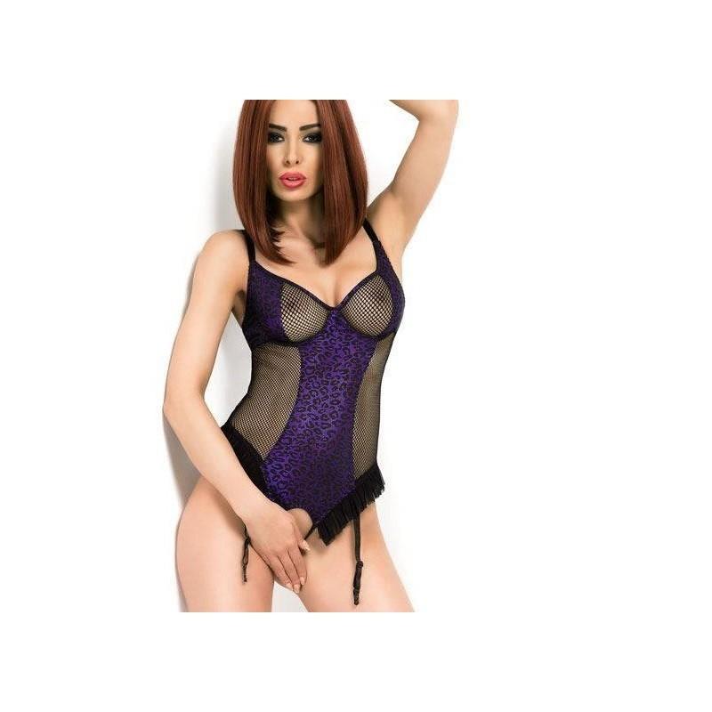 Body ouvert violet et noir