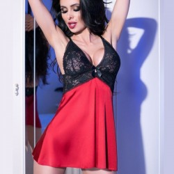 Nuisette satin rouge