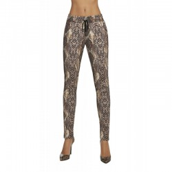 Naya pantalon serpent marron