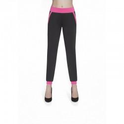 Hannah pantalon noir rose