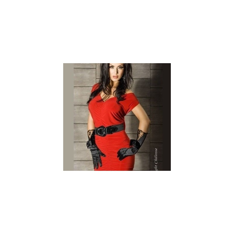 Robe multi-positions rouge