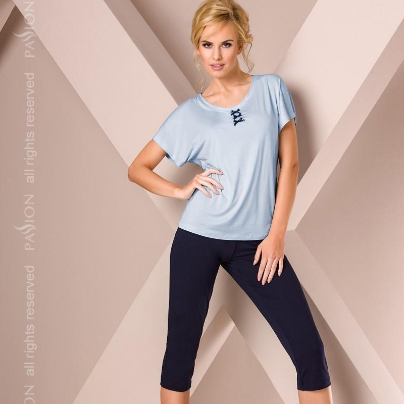 Pyjama court bleu
