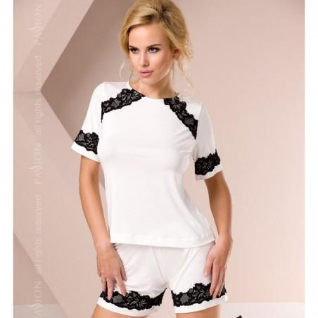 Pyjama short blanc