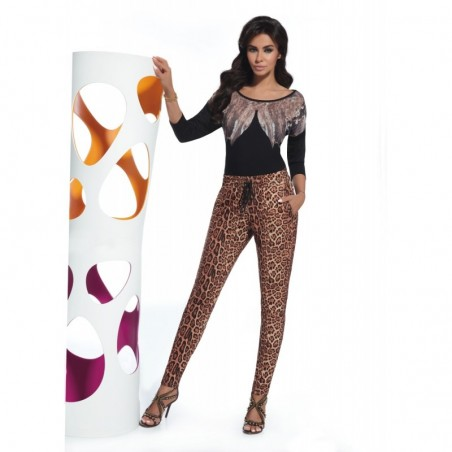 Alisha pantalon léopard