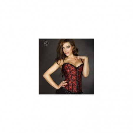 Corset rouge a broderies