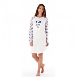 Chemise de nuit polaire blanche