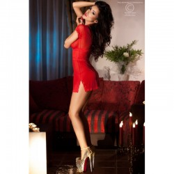 Nuisette manches courtes rouge