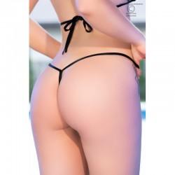 String de bikini noir