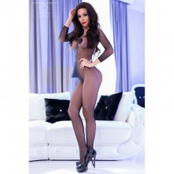 Bodystocking résille manches longues